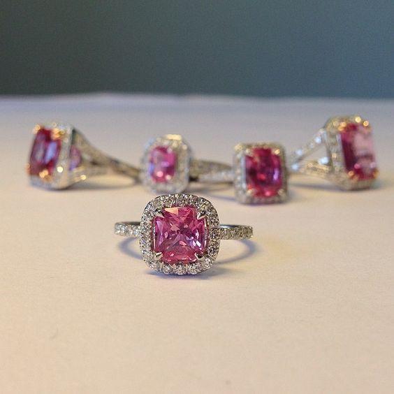 unique sapphire engagement rings