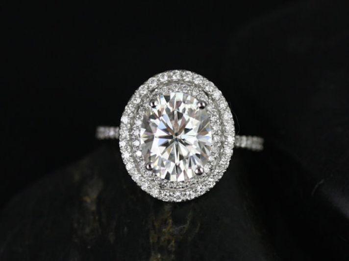 custom white sapphire engagement rings