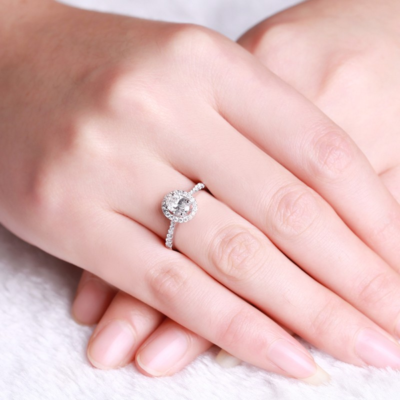 white sapphire engagement ring online