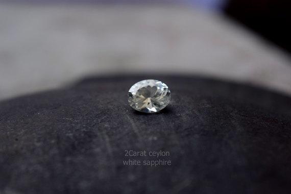 Natural white sapphire ring