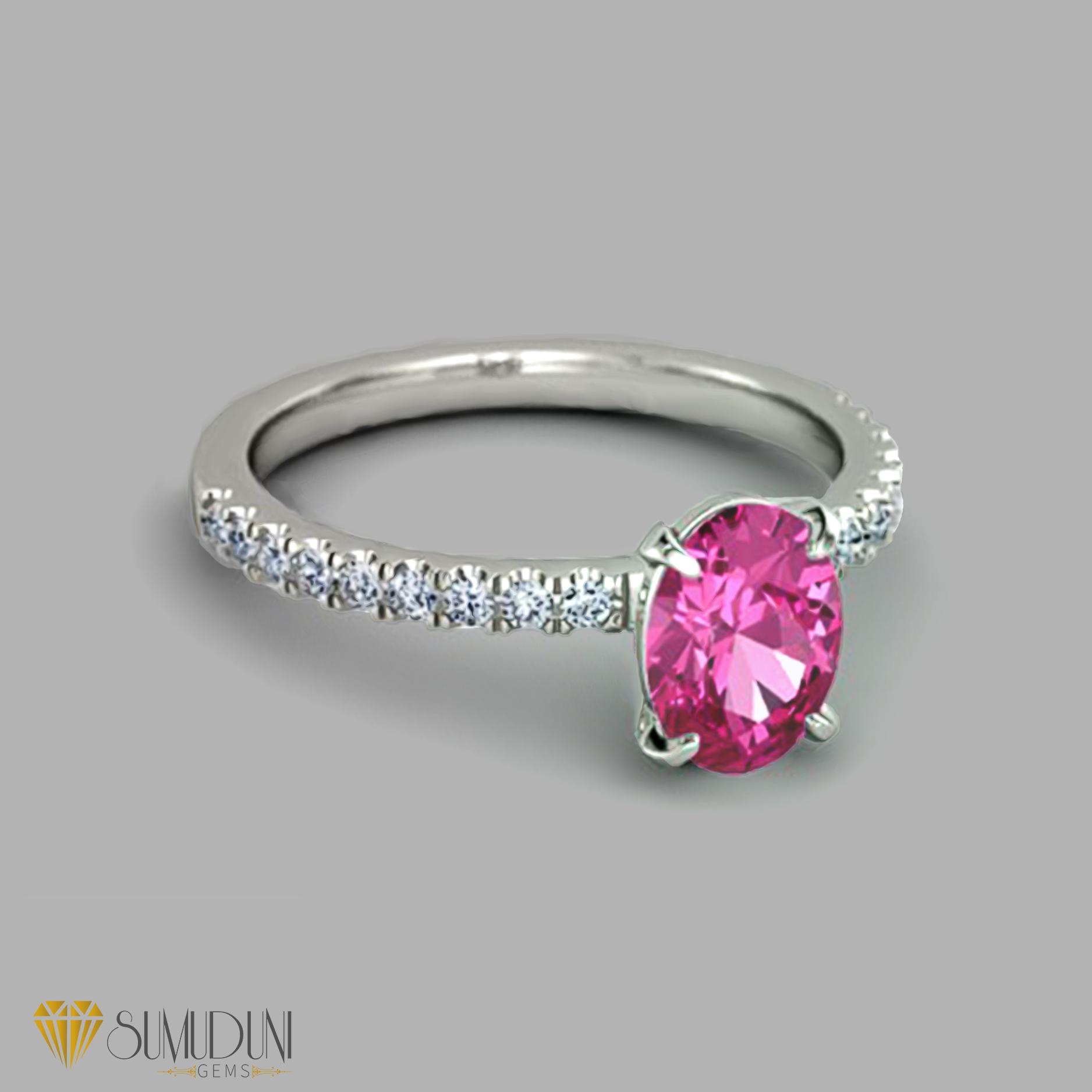 pink sapphire engagement ring |sumuduni gems