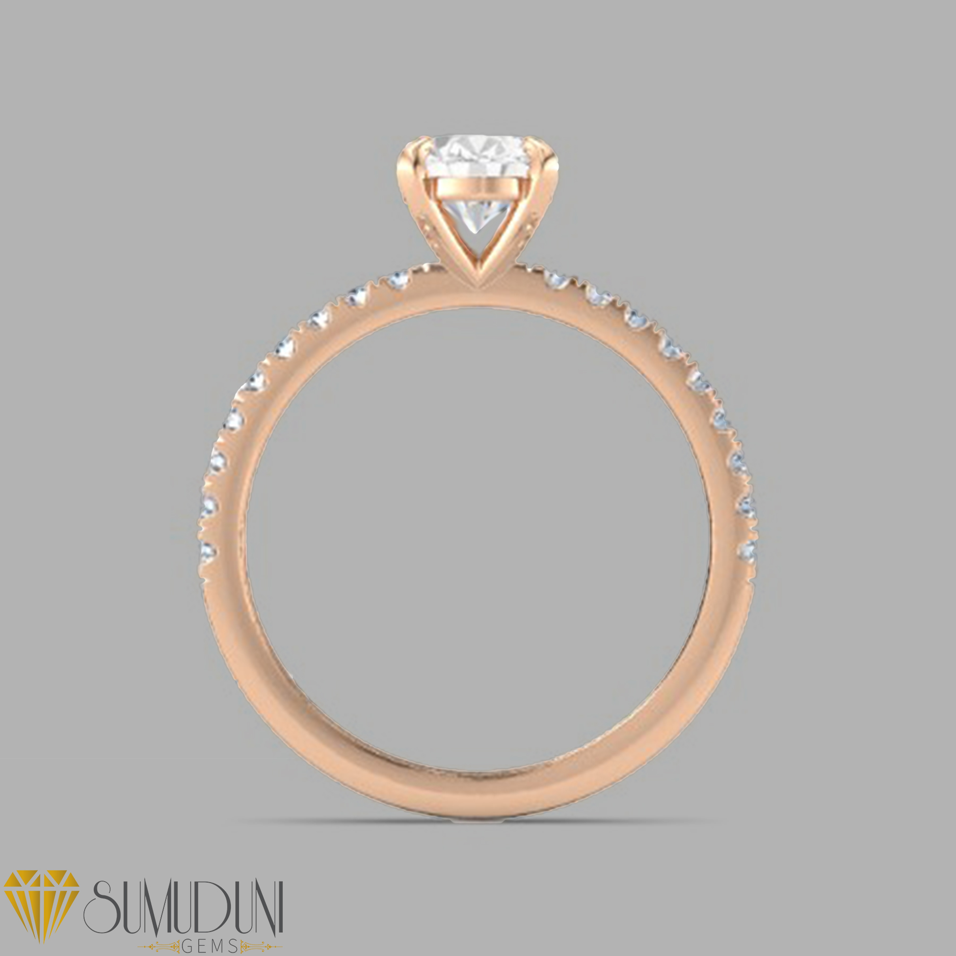 Rose Gold White Sapphire Engagement Rings White Sapphire Engagement Rings