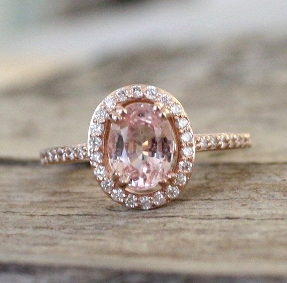 Peach Shire Engagement Rings Sumuduni Gems