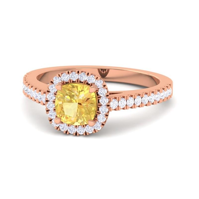 cushion cut engagement ring Sumuduni gems