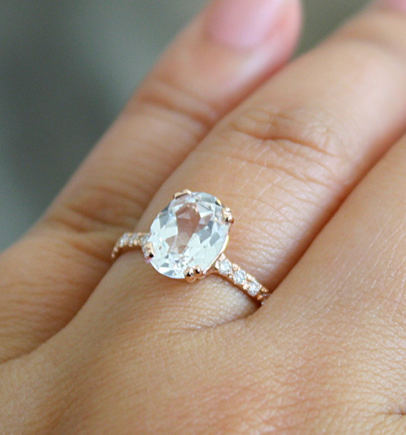 white sapphire engagement rings - White Sapphire Wedding Rings