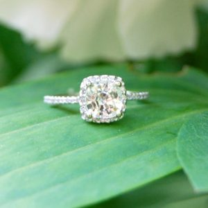 natural white sapphire engagement rings