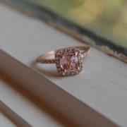 peach sapphire rose gold ring (1)