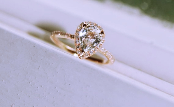 pear shaped engagement rings with wedding bands - Pear Shaped Wedding Ring