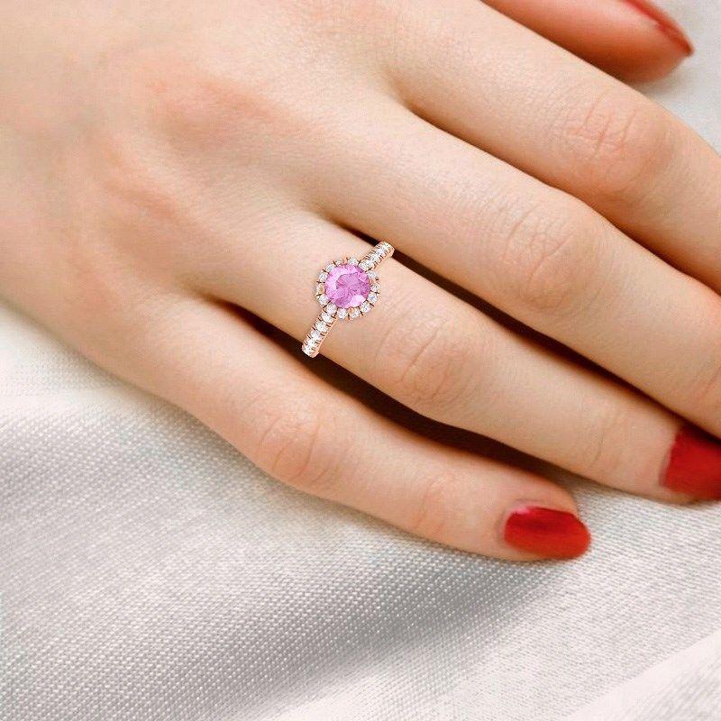 pink sapphire engagement ring _sumuduni Gems