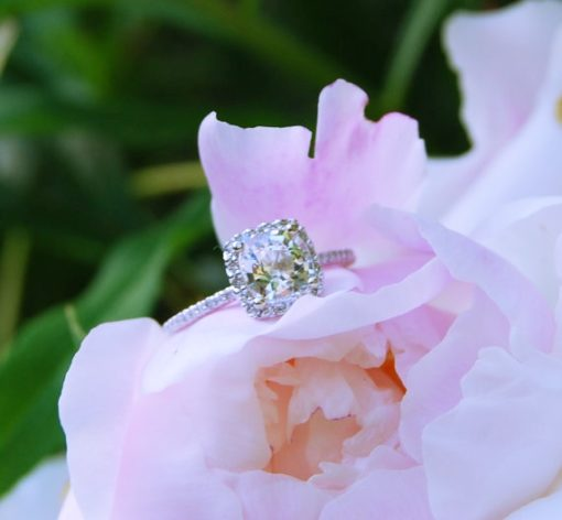 white sapphire engagement rings photos