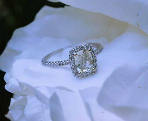 rose gold white sapphire rings