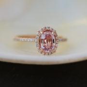 Peach Sapphire Engagement Ring Sumuduni gems