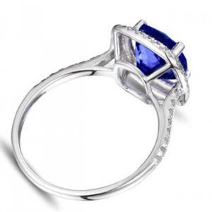 1 carat cushion cut halo engagement rings