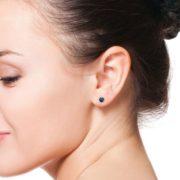 Blue Sapphire Stud Earrings (1)