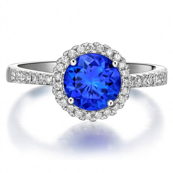 1 carat sapphire engagement ring