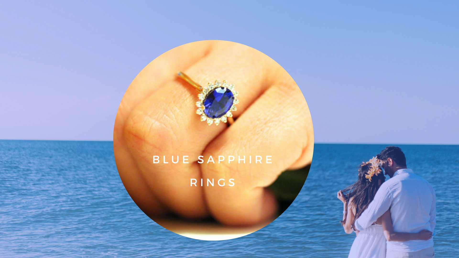Blue sapphire engagement ring collection