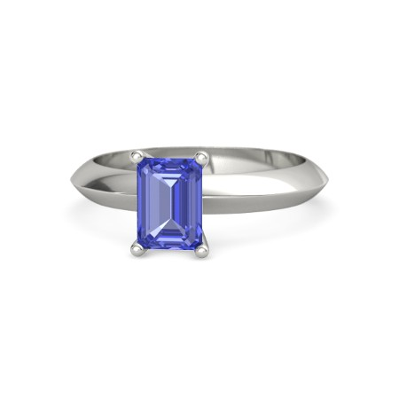 emerald cut sapphire ring white gold