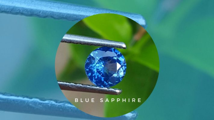 Blue sapphire engagement ring for Sale