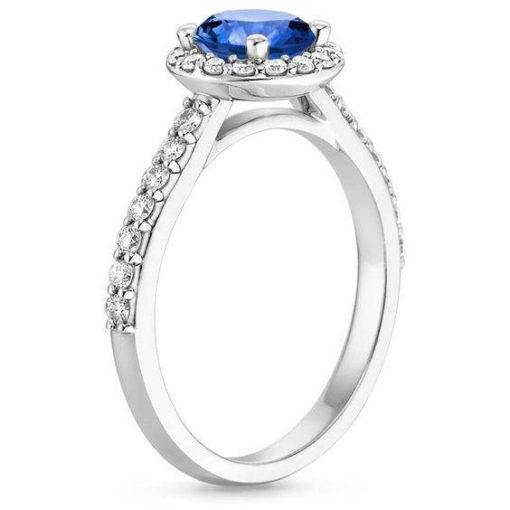 Blue sapphire diamond engagement ring sumuduni gems