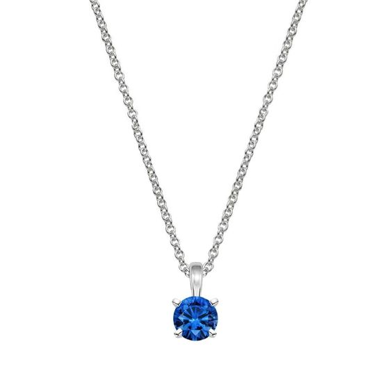 Blue Sapphire necklace white gold