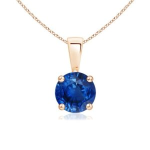 Simple sapphire necklace (2)