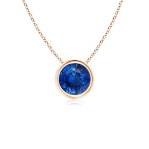 blue sapphire necklace rose gold (1)
