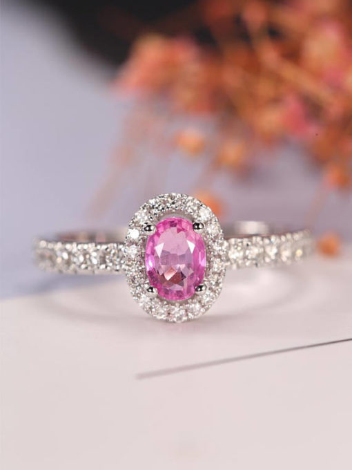 light pink sapphire engagement rings rose gold