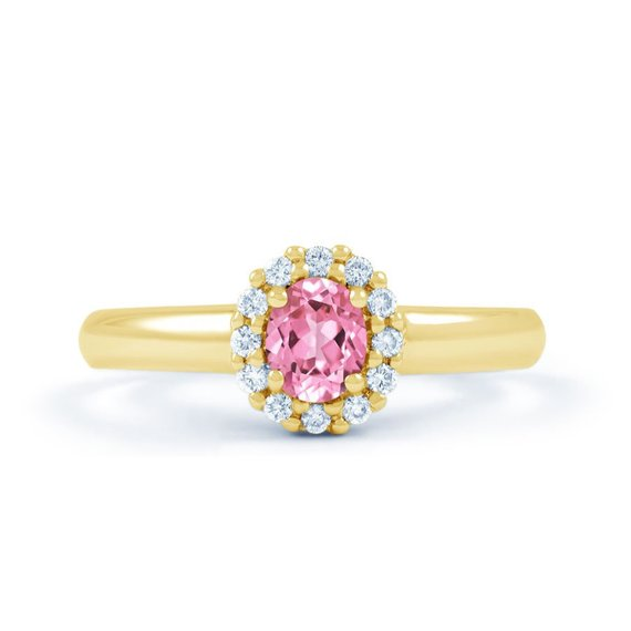 pale pink sapphire engagement ring