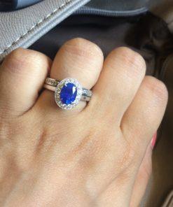 ceylon blue sapphire diamond ring
